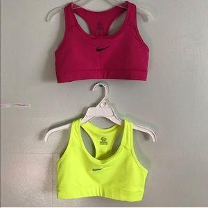 NIKE sports bras